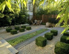 Interesting Use Of Central Water Feature, Symmetry Channeling Persian Design  · Garden ModernContemporary GardensModern ...