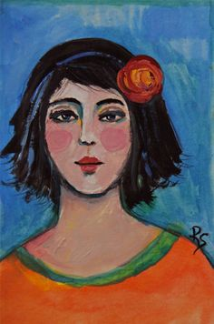 Marcella  - Original Portrait Painting by ArtcyLucy on Etsy