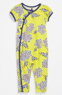 Tea Collection 'Chrysanthemum' Coveralls (Baby Girls) available at #Nordstrom