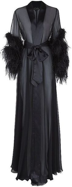 Jenny Packham Feathered Long Robe (£899)
