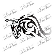 Marketplace Tattoo SBink Bull head side #20511 | CreateMyTattoo.com