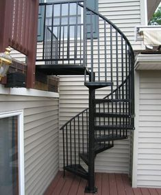 Exterior Spiral Staircase Kits   Custom Metal Spiral Staircase