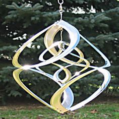 Kinetic Double Chrome Wind Spinner Sun Catcher