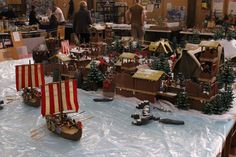 Diorama Playmobil Les Vikings Bourraix 2014 Alizobil & JP