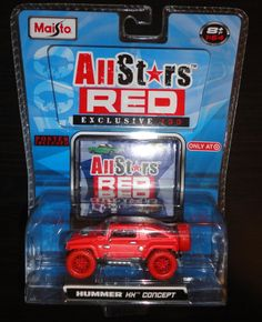 RED CHASE HUMMER HX CONCEPT 2008 Maisto Target Exclusive All Stars Limited Car