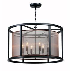 World Imports Aria Collection 6-Light Oil Rubbed Bronze Indoor Pendant-WI 4356-88 - The Home Depot