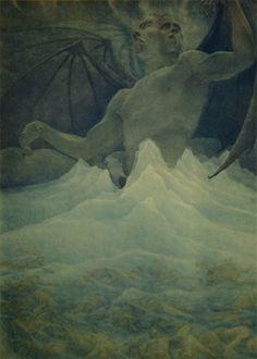Dante's Satan at the Frozen Lake of Cocytus, Amos Nattini 1923