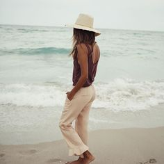 Salty hair sandy feet.  | Ava Tank x Rae Crops: shopsincerelyjules.com