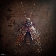 Steampunk Insect rendered in KeyShot by Oliver Kieser.