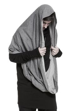 Magnetic Wear grey oversized tube scarf from unconventional