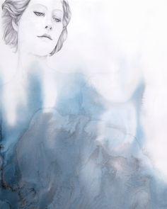 Beth Nicholas ~ Rising Waves, 63 x 44cm.  http://www.beth-nicholas.com/