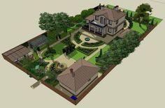 Best garden layout design ideas Ideas In order to have a wonderful Modern Garden Decoration, it's useful to be … Landscape Design Plans, Landscape Architecture Design, Patio Design, Garden Design, Layout Design, Design Ideas, Cool Landscapes, Garden Planning, Amazing Gardens