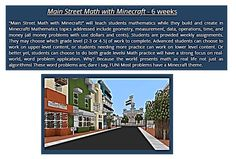 """""""Main Street Math with Minecraft!"""" will teach students mathematics while they build and create in Minecraft! Learners can choose to work at grade levels or or both! Money Problems, Stem Steam, Coding For Kids, After School, Main Street, Mathematics, Homeschooling, Minecraft, Creativity"""