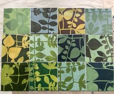"""Jennifer Douglas on Instagram: """"Trying to capture the changing colours of leaves from the garden. A simple monoprinting process using the gelplate, golden open acrylics…"""" Gelli Plate Printing, Acrylics, Leaves, Colours, Quilts, Simple, Garden, Instagram, Garten"""
