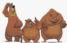 Art by Paul Cohen* Bear Character, Character Drawing, Character Concept, Concept Art, Character Sketches, Bear Illustration, Character Illustration, Art Illustrations, Character Design Animation