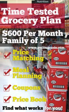 Here is my grocery plan with many ways I work to save money on my grocery bill.  You need find what works for you, here are some strategies for grocery shopping!