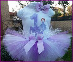 Sofia the First tutu set,2 DESIGNS, First Birthday , Princess Sofia birthday outfit, Birthday shirts on Etsy, $38.00