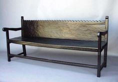 Ebony Walnut Bench | From a unique collection of antique and modern benches at https://www.1stdibs.com/furniture/seating/benches/