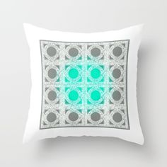 Cement Block Circles 2 Throw Pillow by Jensen Merrell Designs - $20.00