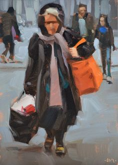 Carol Marine's Painting a Day: Bag Lady