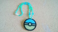 Blue Glow in the dark Pokeball Necklace - Pokemonfan- pokeball- nerd wear - geek chic- lolita style by ChibiKaijuKrafts on Etsy
