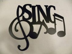 """Sing Word and Musical Notes Metal Wall Art Decor by JNJ Metalworks. $14.99. Made in the USA; High Quality Steel Construction; Rust Resistant Paint. Metal Wall Art Decor Sing And Notes , Made Of Steel, Painted Black, In New Condition, Measures 10"""" Wide By 8 1/2"""" Tall Check out my other items!"""