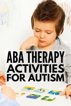 These ABA therapy activities for kids with autism spectrum disorder will give you heaps of ideas you can use at school, in therapy, and at home! Autism Education, Adhd And Autism, Autism Parenting, Autism Resources, Autism Classroom, Children With Autism, Aba Therapy For Autism, Speech Therapy, Teaching