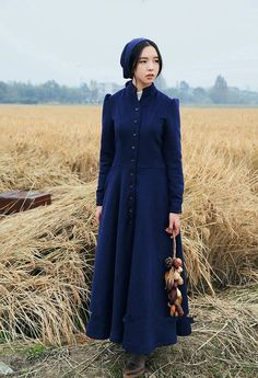 BOHOCHIC Women's Artistical Original Design Summer Vintage Single Breasted Slim Swing Warm Wool Coat Deep Blue LS0018D Boho Chic - http://bohemi.co/?products=bohochic-womens-artistical-original-design-summer-vintage-single-breasted-slim-swing-warm-wool-coat-deep-blue-ls0018d-boho-chic #boho #bohemian #bohoclothes