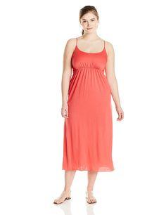 Star Vixen Women's Plus-Size Empire Spaghetti-Strap Maxi Dress ** Additional details at the pin image, click it  : Plus size dresses