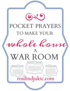 Download this set of pocket prayers to make your whole house a war room as you…
