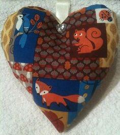 Fox Gift / Fox Woodland Animals Fabric Lavender Bag / Squirrel - Handmade
