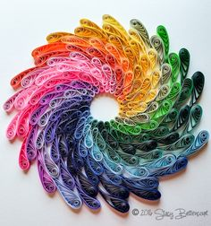 Quilled Rainbow Spiral