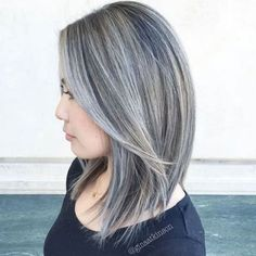 1000+ images about Transitioning Grey Ombre Hair, Grey Wig, Silver Grey Hair, Brown Blonde Hair, Black Hair, Grey Hair With Black Streaks, Ash Grey, Silver Ombre, White Ombre
