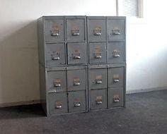 Vintage Schubladenschrank Apothekerschrank Kommode IM Industrie Look | eBay
