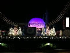 """Spaceship Earth from the walkway to World Showcase 