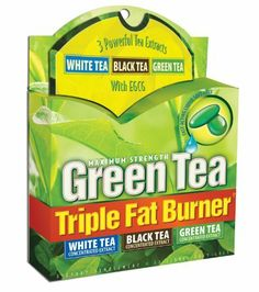 Applied Nutrition Green Tea Triple Fat Burner, 30 Liquid Soft-Gels (Pack of 3) by Applied Nutrition. $22.47. Combining Green, White and Orange (black) tea provides a blend of key nutritional compounds (polyphenols, catechins, theaflavins) that support your weight loss efforts.  The EGCG content of each tea along with the natural caffeine is scientifically shown