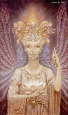 Johfra  Bosschart - Elfenserie 20: Het grote mysterie (May 7, 1988) Le Zodiac, Art Visionnaire, Tarot, Unicorn And Fairies, Gautama Buddha, Spirited Art, Goddess Art, Dutch Artists, Modern Artists