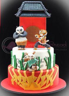 Torta di Kung Fu Panda in pasta di zucchero n.08