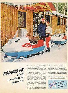 Polaris Colt Snowmobile Skimobile 1968 AD Winter Sport