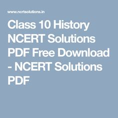 Class 10th Maths Ncert Solutions Pdf