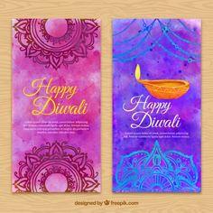 Watercolor diwali brochure Free Vector Diwali Cards, Diwali Greetings, Flower Diy, Diy Flowers, Lantern Drawing, Shubh Diwali, Diwali Crackers, Diwali Poster, Diwali Images
