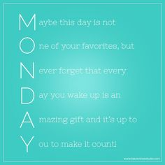 Motivation Quotes : QUOTATION – Image : Quotes Of the day – Description a new morning, a new day, a new week Sharing is Power – Don't forget to share this quote ! Monday Morning Quotes, Monday Quotes, Daily Quotes, Great Quotes, Me Quotes, Motivational Quotes, Inspirational Quotes, Qoutes, Morning Sayings