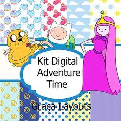 Kit digital Adventure Time papéis