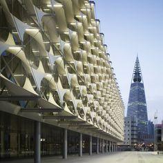 tent facade   Architekten in Riyadh, Saudi Arabia. The main feature is the facade ...