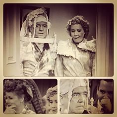 They commented on how they almost ruined the scene after the filming. Desi couldn't control himself and Lucille had to bite the inside of the cheeks. The cast of I Love Lucy had always tried to spring surprises to keep reactions real. It was the first time Desi and Lucy saw Bill and Viv in these costumes!