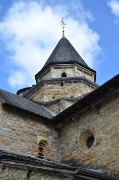 Clocher.Eglise romane de l'Hôpital  Saint-Blaise. Midi-Pyrénées