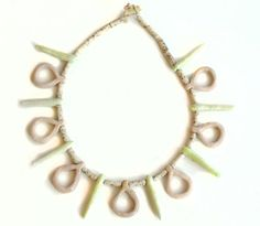 Vntage ceramic pastel necklace at www.froufrous.nl