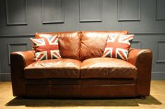 RUSTIC DISTRESSED BROWN ANILINE LEATHER 2 TWO SEATER SOFA SETTEE COUCH   eBay