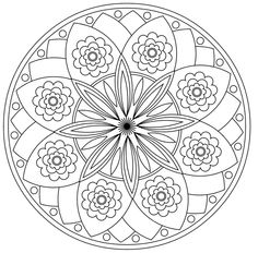 Mandala 506, Prayer Mandala - over 20 different patters to color and pray with