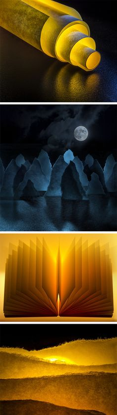 Click for more info/pics! Post-It Notes Captured On a Macro Scale to Create Stunning Abstract Photographs by Marianna Armata #paperart #photography